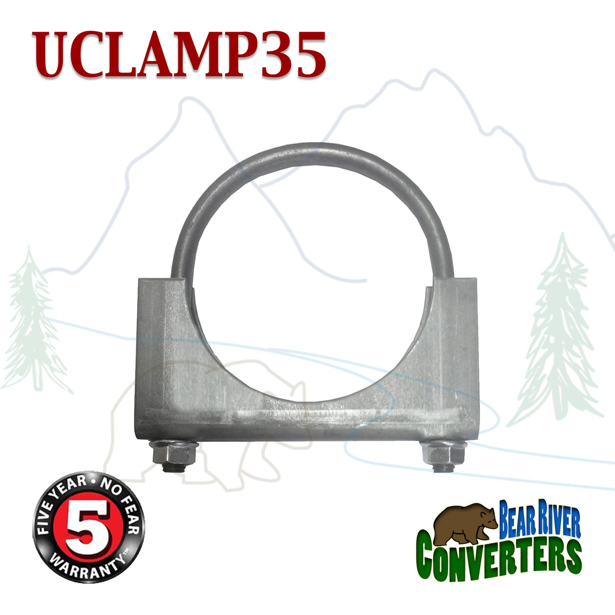 "3 1//2/"" 3.5/"" U-Bolt Uclamp Muffler Saddle Exhaust Clamp"