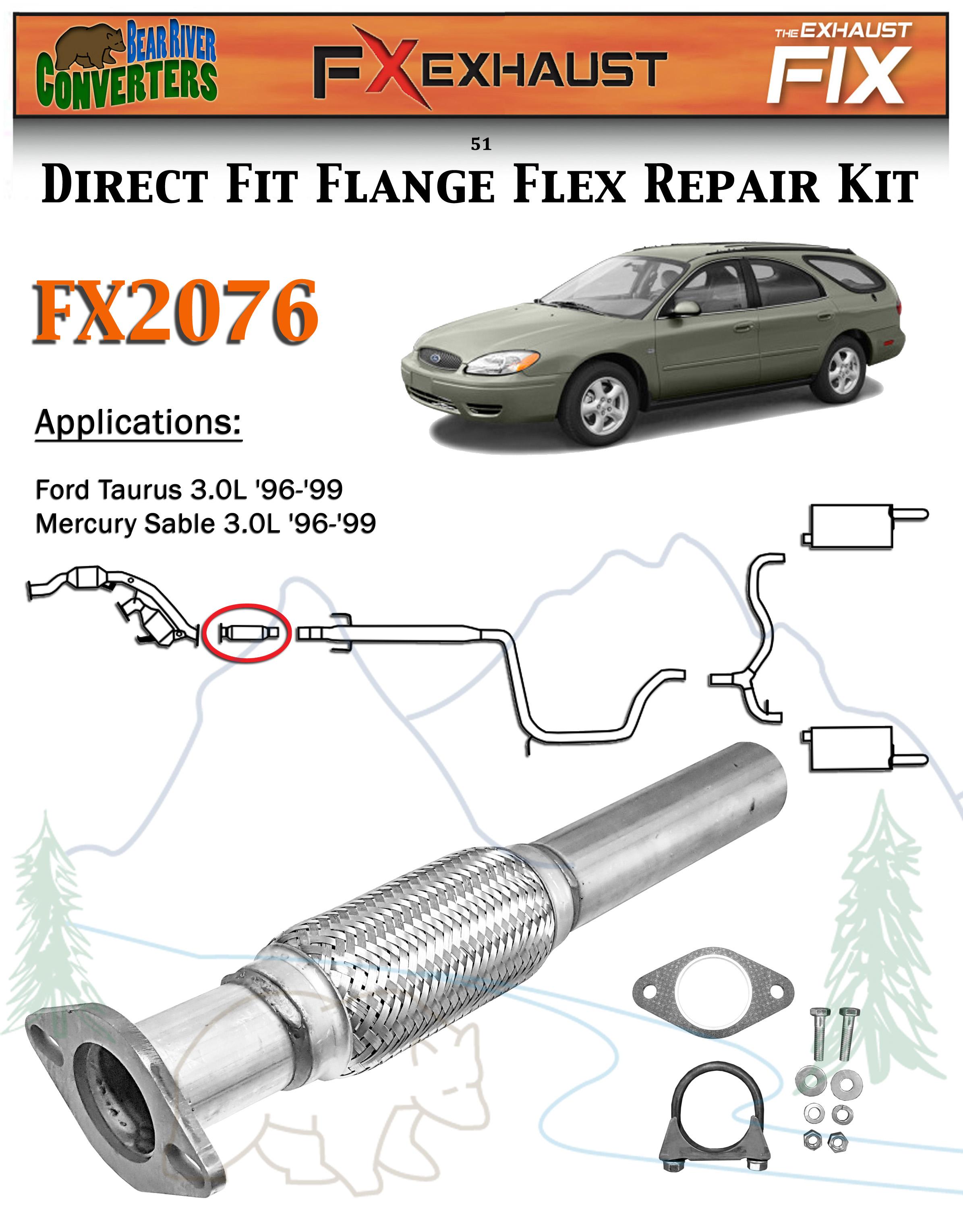 Exhaust Pipe-DOHC FX Exhaust FX2076