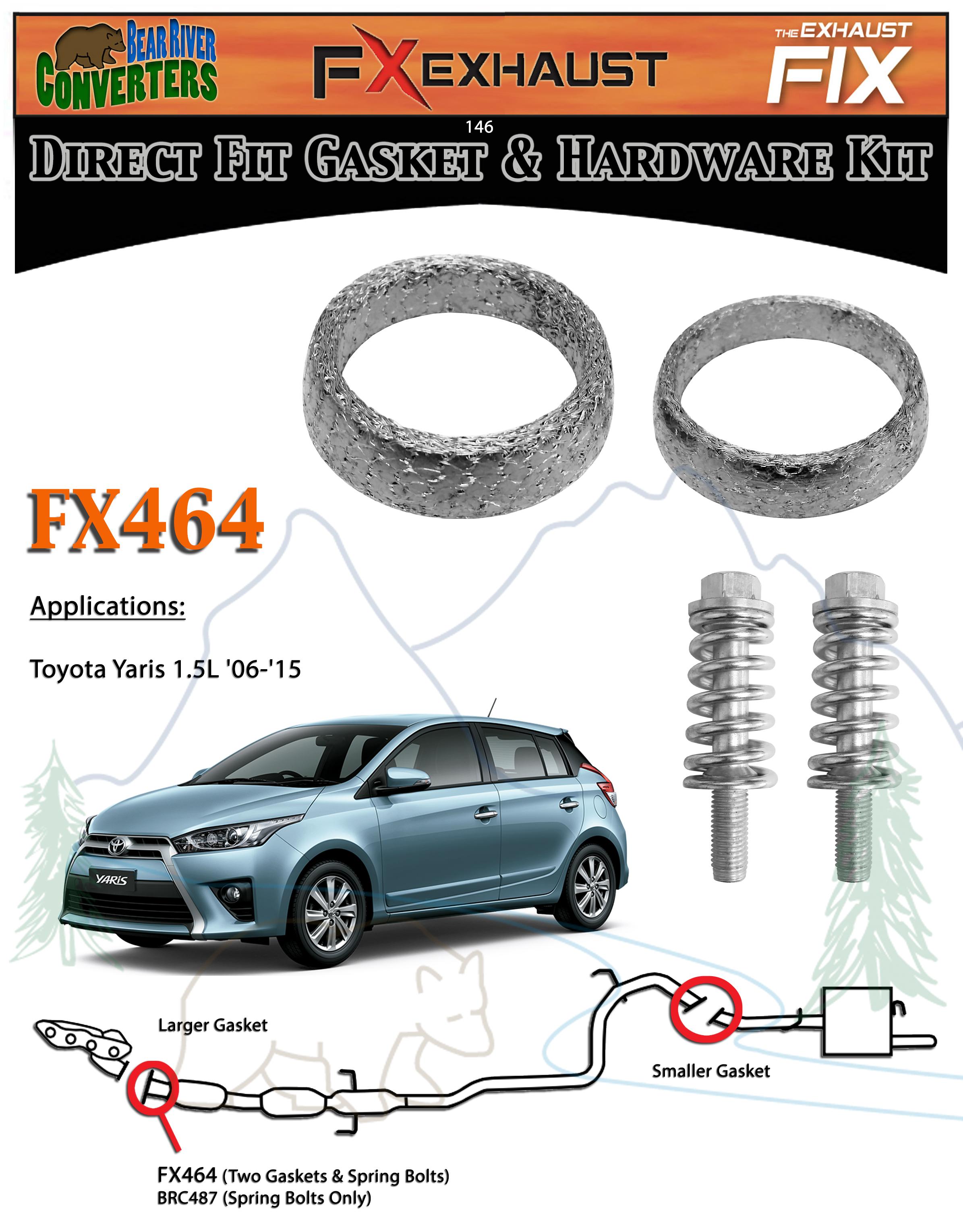 "ID Composite Donut Exhaust Gasket 1.75/"" FX672 1 3//4/"""