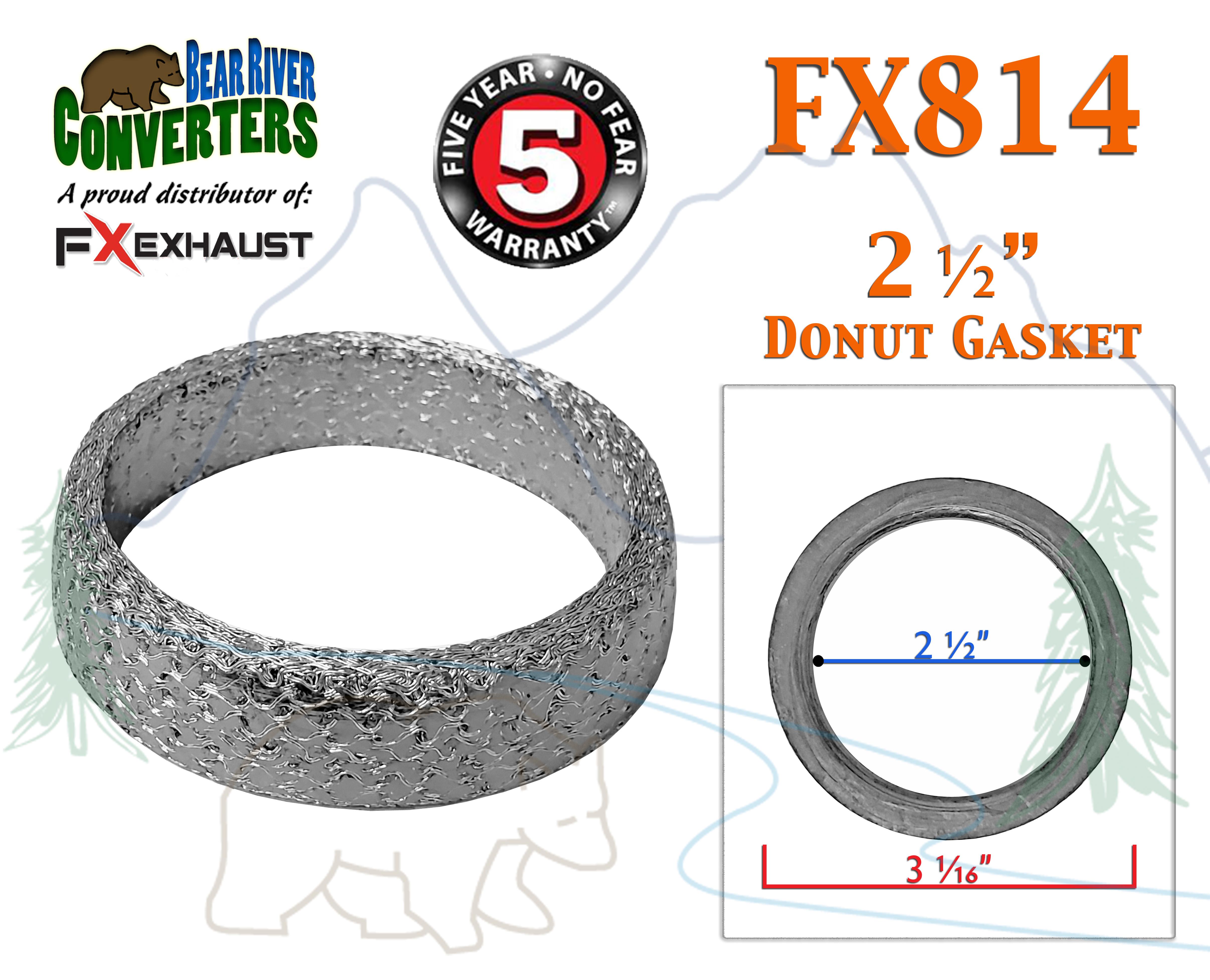 2.5in Collector Flange Donut Gasket Exhaust Header Kit Practical Accessory Exhaust Collector Flange