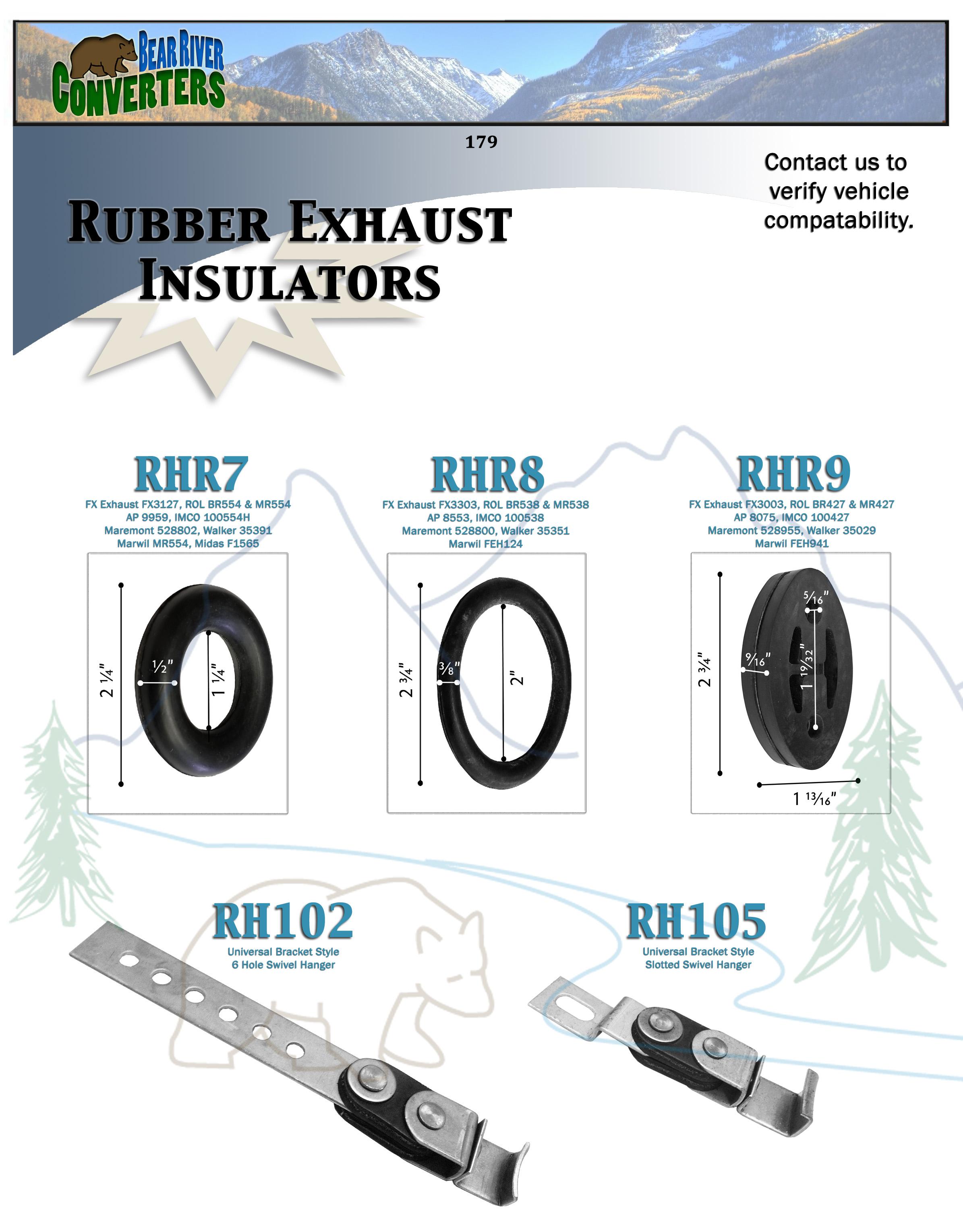 rhr2 exhaust mount rubber insulator grommet hanger bushing 5 16 rod rh bearriverconverters store