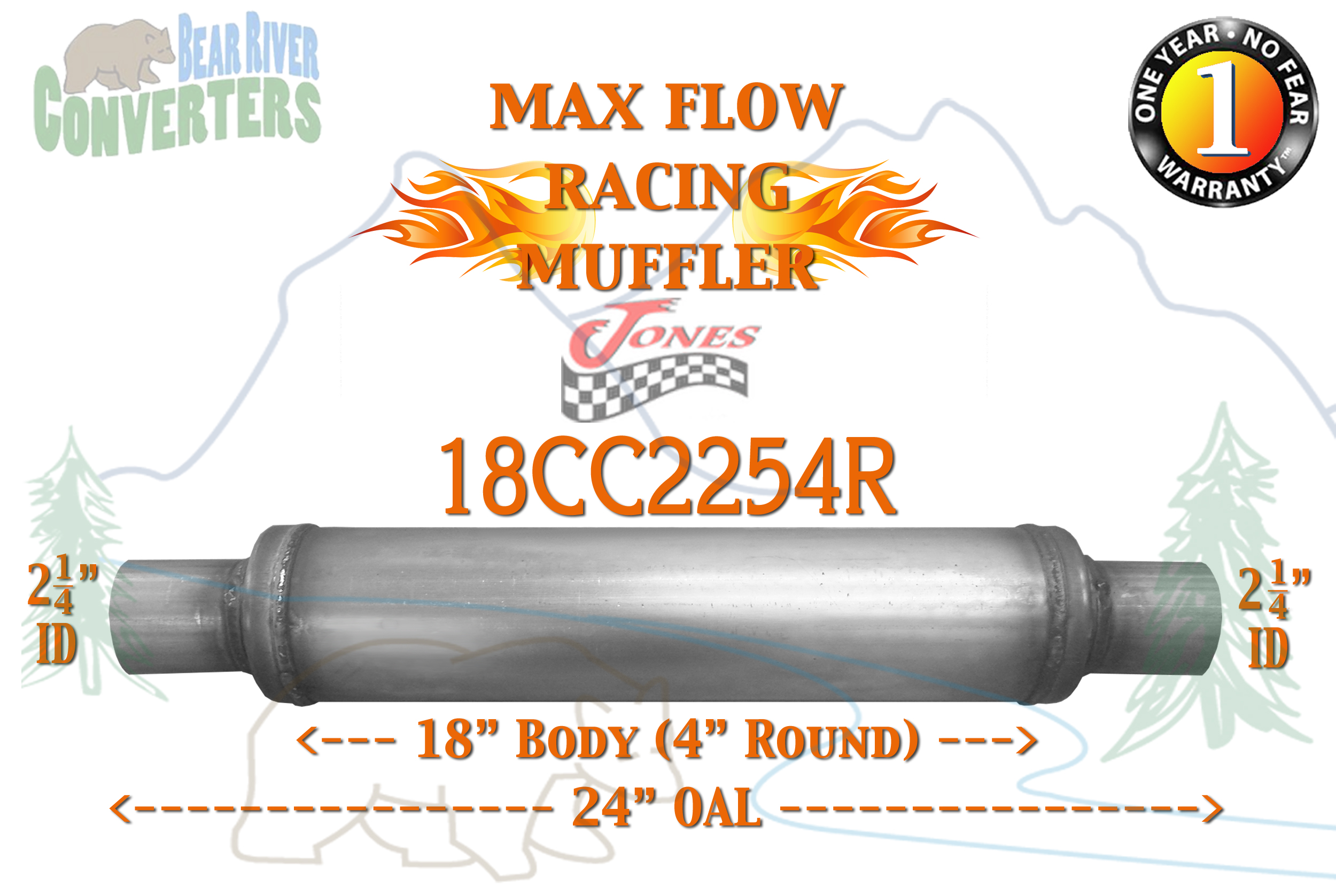 Exhaust Flex Tube 2.25in ID w// Necks