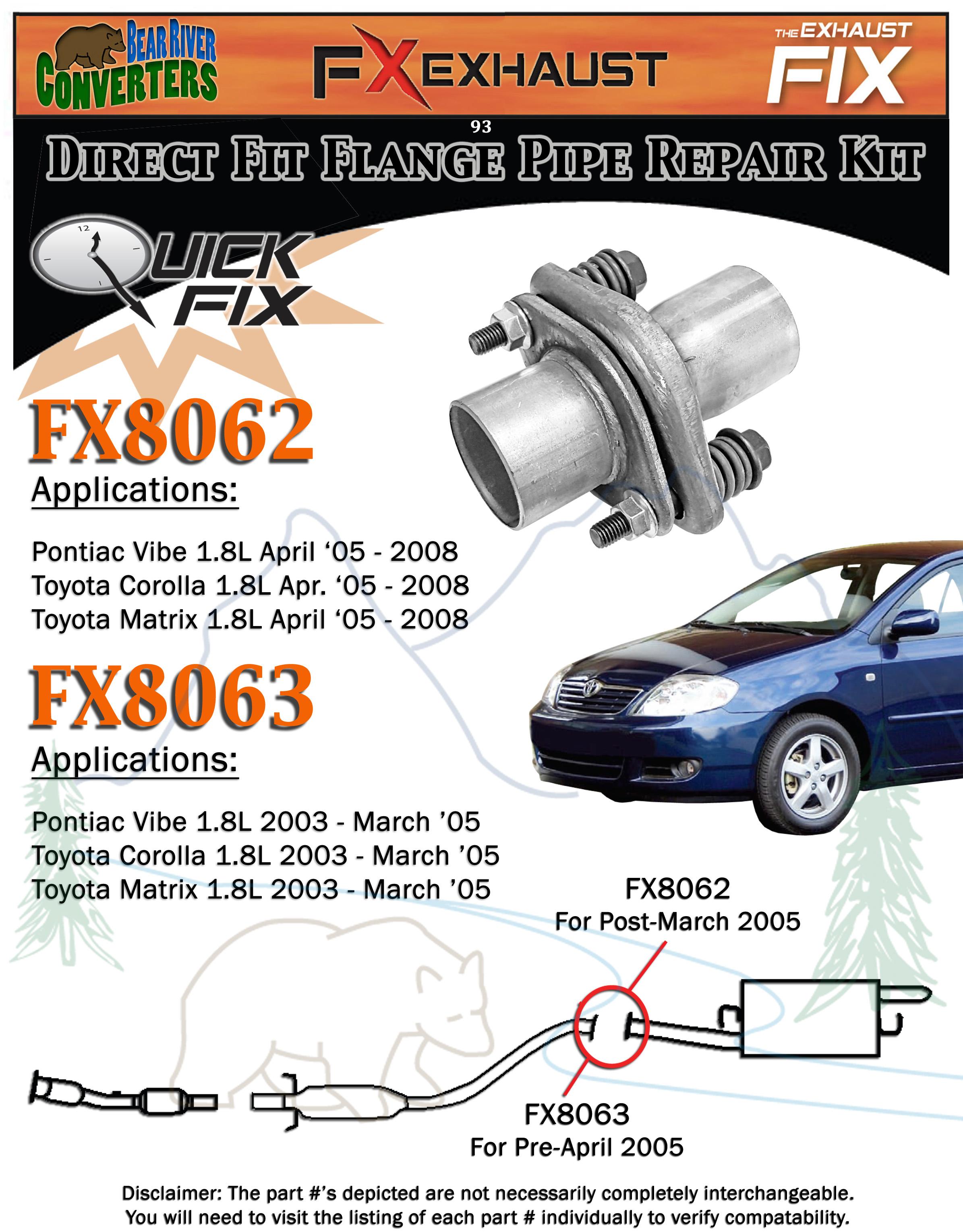 Exhaust Pipe FX Exhaust FX8062