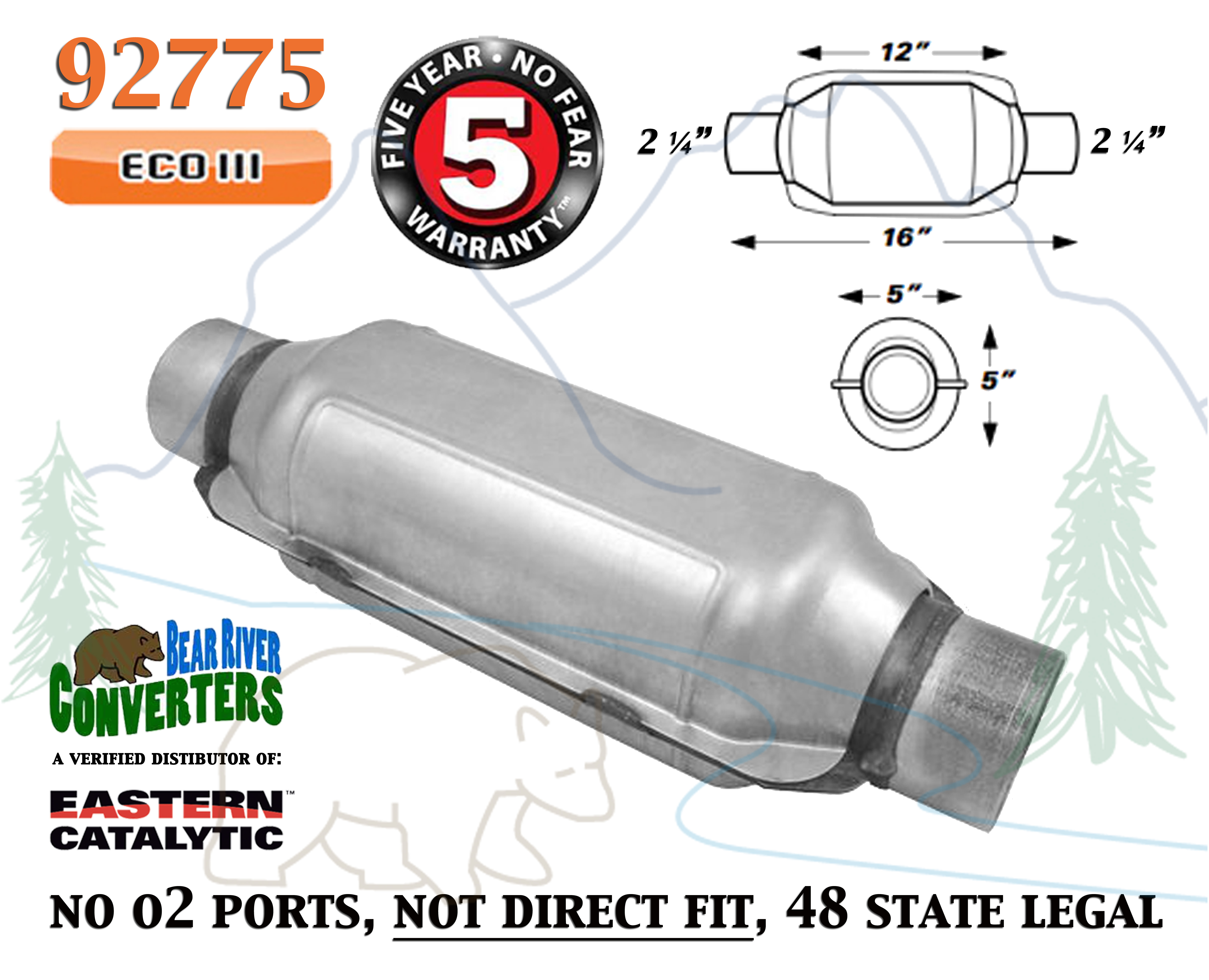 Eastern Catalytic Direct-Fit Catalytic Converters Federal EPA-Compliant 4...